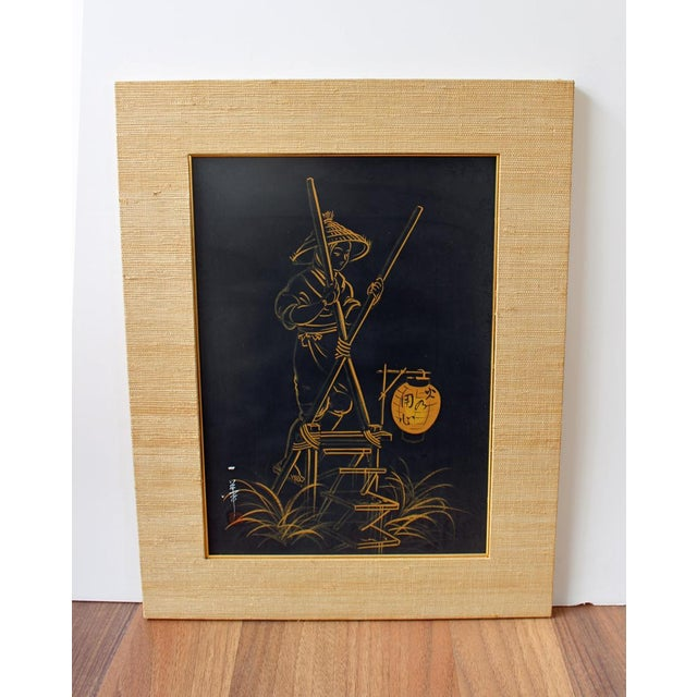1960s Japanese Brush Paintings - A Pair - Image 3 of 6