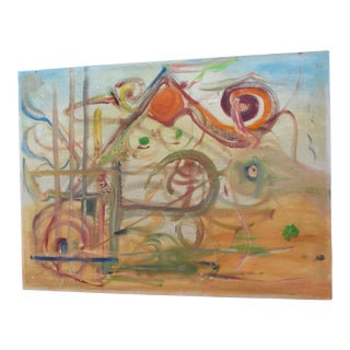 Marian Cummings Abstract Modernist Oil Painting