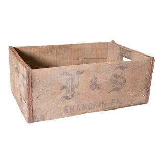 Vintage Rustic Shamokin Pennsylvania Brewery Wood Crate
