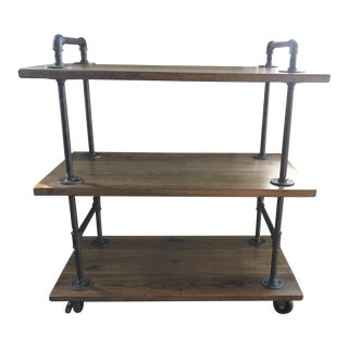 Reclaimed Wood Kitchen Cart