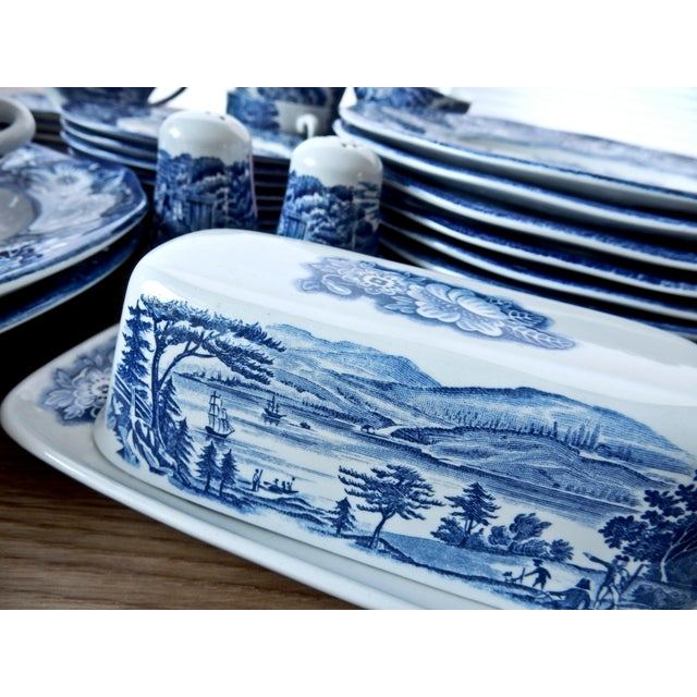 Staffordshire Dinnerware Liberty Blue China Set - Image 5 of 6