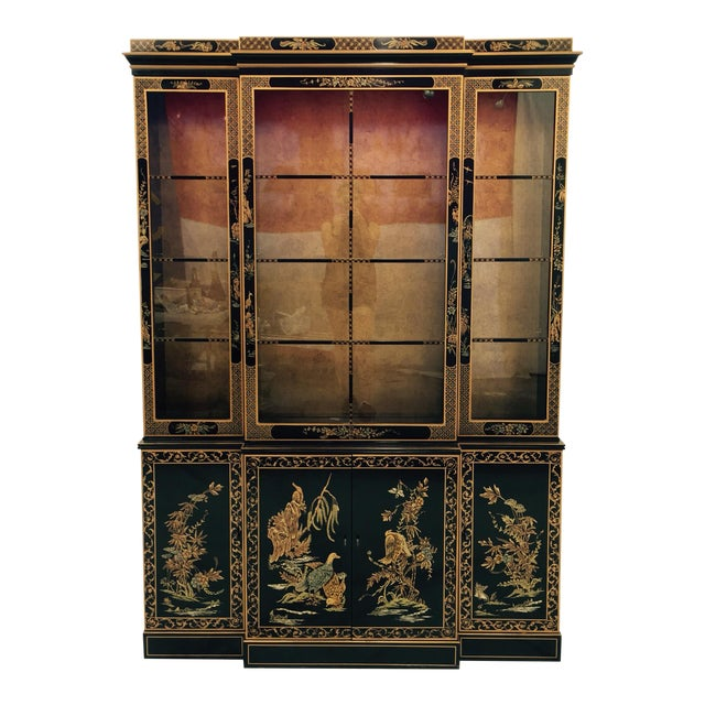 Vintage 1980s Drexel Heritage Asian Chinoiserie China Cabinet - Image 1 of 11
