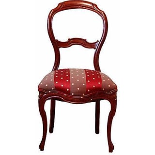 19th Century Victorian Mahogany Balloon Chair