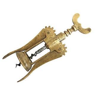Italian Brass Corkscrew
