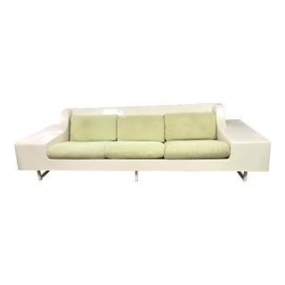 Mid-Century Modern White Fiberglass Sofa