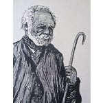 Image of Antique Drawing Man With a Cane by Deming 1909