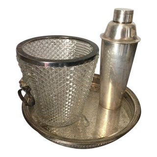 Silver Plated Champagne Bucket, Cocktail Mixer & Tray