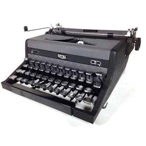 Vintage Royal Quiet DeLuxe Typewriter - Image 2 of 6