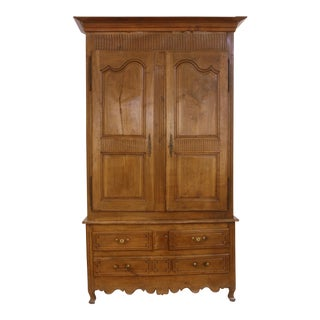 Louis XV Walnut Armoire in Walnut