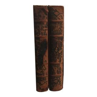 "1900 Leather ""Reminiscences"" 2 Volume Book"