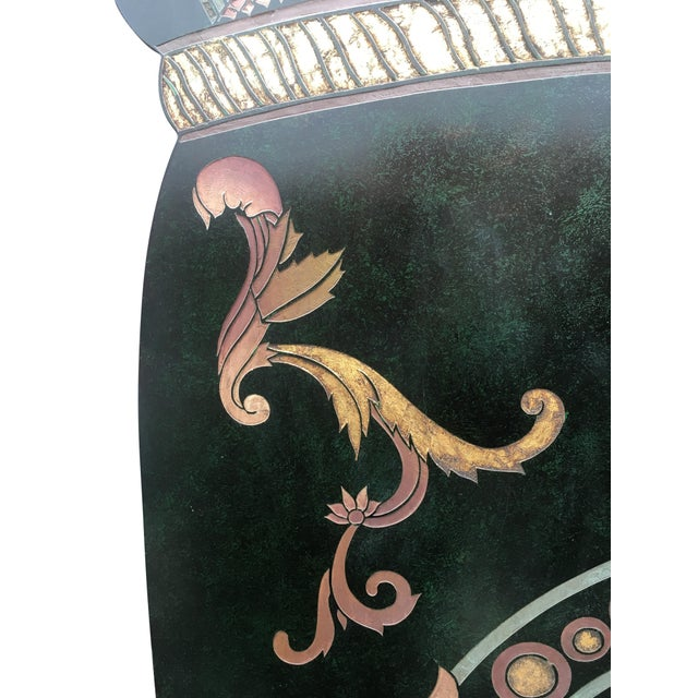 Vintage Art Deco Hand Painted Screen - Image 2 of 10