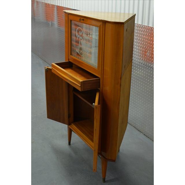 Mid-Century Scandinavian Corner Bar Cabinet - Image 6 of 7