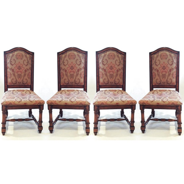 French Style Upholstered Dining Chairs Set Of 4 Chairish