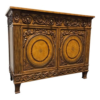 Maitland Smith Tuscan Carved Cabinet