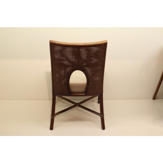 Image of McGuire Barbara Barry Petite Caned Arm Chair