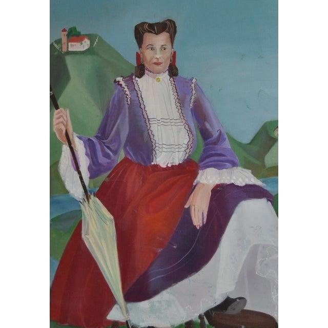 Nancy Larsen Vintage Oil Painting, C.1940's - Image 3 of 6