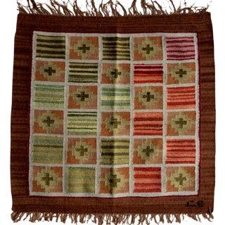 Perúvian Hand Woven Rug - 2′ × 2′1″
