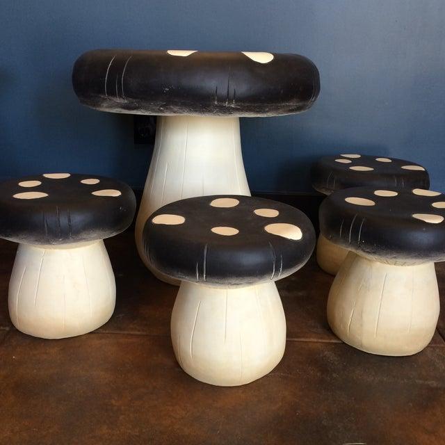 Mushroom Table Amp Stool Set Chairish