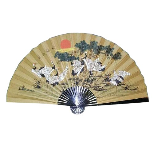 Antique 1930s Chinoiserie Wall Fan - Image 1 of 5