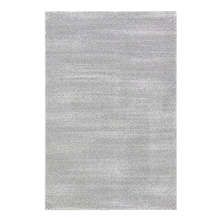 Striped Gray & White Rug - 5'3''x 7'7''
