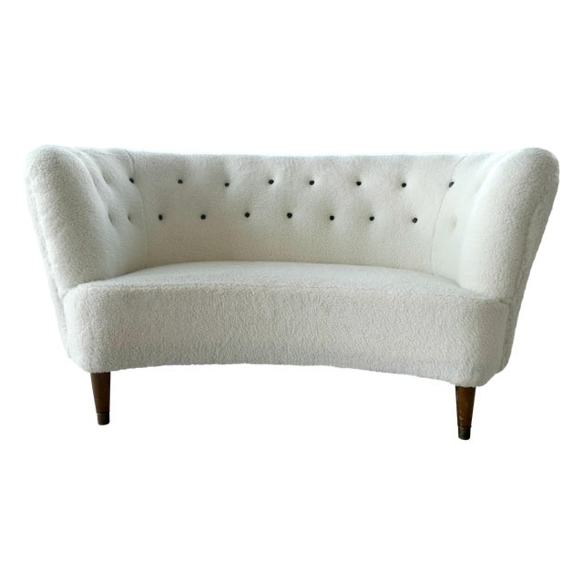 Image of Vintage Slagelse Moebelvaerk Danish Loveseat