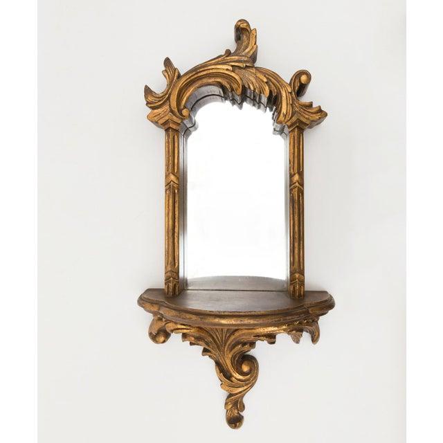 Large 1920s Ornate Giltwood Mirror Wall Niche Shelf - Image 2 of 11