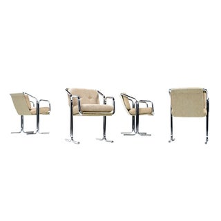 Restored Jerry Johnson Chrome Arm Chairs - Set of 4