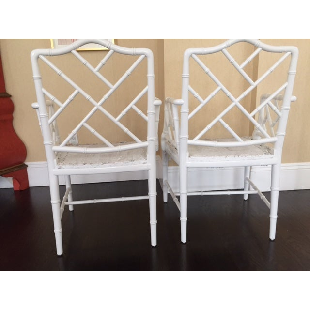 Chippendale Faux Bamboo Chairs - A Pair - Image 3 of 6