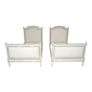 1800s French Louis XVI Extra Twin Beds - Pair