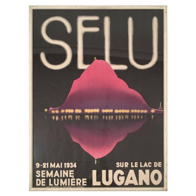 1934 Semaine De LumièRe (Selu) Swiss Travel Poster from Lugano - Image 1 of 6