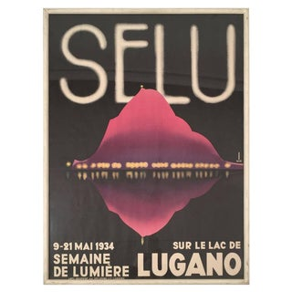 1934 Semaine De LumièRe (Selu) Swiss Travel Poster from Lugano