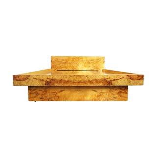 Baughman Style Burlwood Platform Double Bedframe
