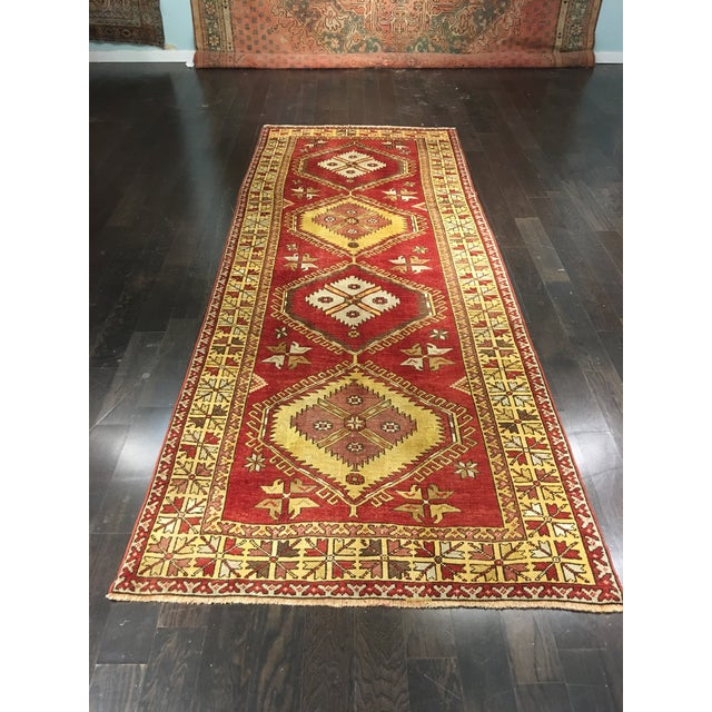 "Bellwether Rugs Vintage Turkish Oushak Runner - 5'x11'3"" - Image 2 of 8"
