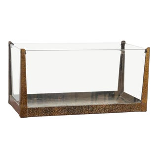 Arts & Crafts Hammered Bronze Aquarium