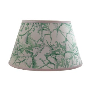 Vintage Green & White Marble Wallpaper Lampshade