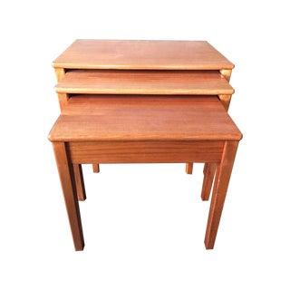 Mid-Century Teak Nesting Tables - Set of 3