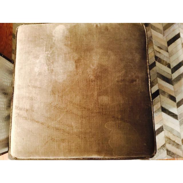 Safavieh Velvet Palmer X Bench, Pair (2 Benches/Stools) - Image 5 of 7