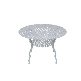 Vintage French Style Cast Aluminum Patio Garden Shabby Metal Outdoor Table