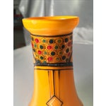 Image of Bohemian Tango Glass Vases Hand Painted and Gilded