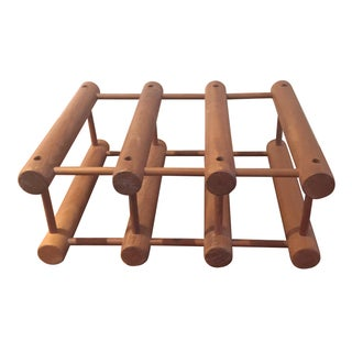 Nissen Danish Modern Teak Wine Rack