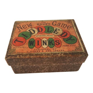 Antique Tiddledy Winks Game