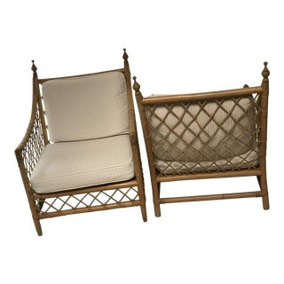 Empire Rattan Chairs - A Pair