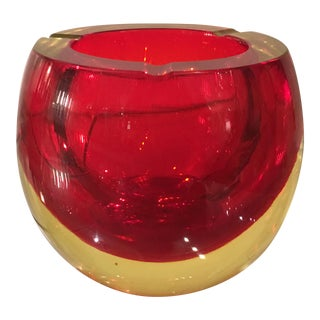 Vintage Murano Italian Art Glass Ashtray by Flavio Poli