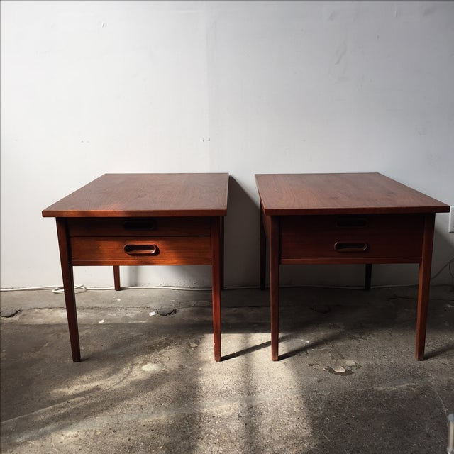 Teak Mid-Century Side Tables - Pair - Image 4 of 10