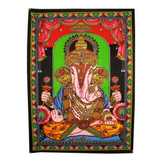 Vintage Bohemian Indian God Ganesha Gypsy Home Decor Wall Hanging Tapestry