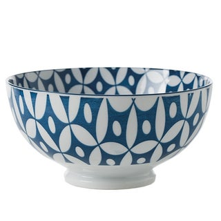 Porcelain Blue & White Motif Bowls - Set of 6