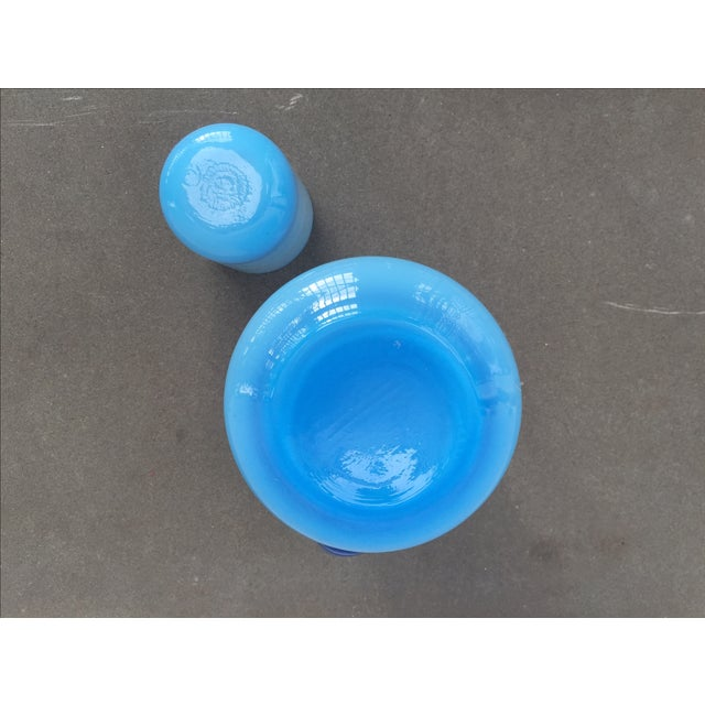 Michael Bang for Holmegaard Blue Pitcher & Cup - Image 5 of 5
