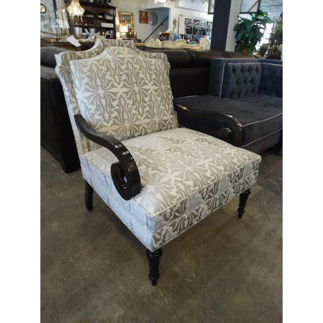White & Silver Bergere Arm Chair - Image 4 of 10
