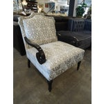Image of White & Silver Bergere Arm Chair