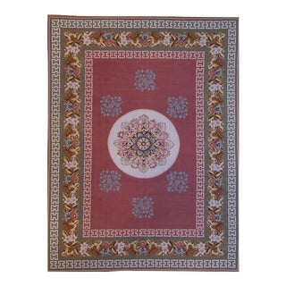 """Pasargad Aubusson Hand Woven Wool Rug - 7' 4"""" X 9' 8"""""""